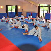 Judo training indoor